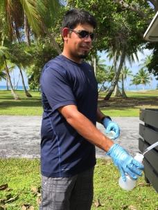 S2H2O well sampling, Marshall Islands.
